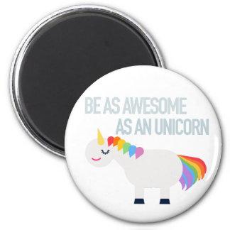 Fantastischer Unicorn-runder Magnet