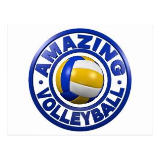 Fantastischer Volleyball Postkarte