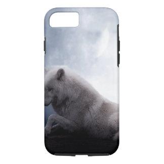 Fantastischer Wolf und Mond-weißer Wolf iPhone 8/7 Hülle