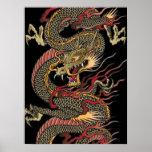 Fantastisches asiatisches Dracheplakat Poster