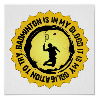 Fantastisches Badminton-Siegel Poster