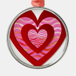 Fantastisches Bild für Liebe Rundes Silberfarbenes Ornament
