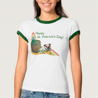 Fantastisches Bulldoggen-St Patrick T-Shirt