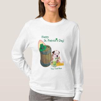Fantastisches Bulldoggen-Welpen-St Patrick T-Shirt