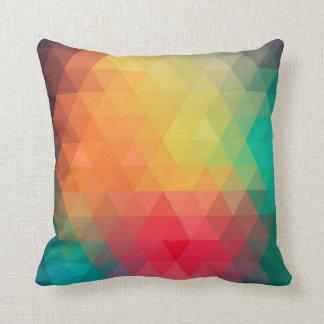 Fantastisches cooles trendy buntes Dreieckmuster Zierkissen