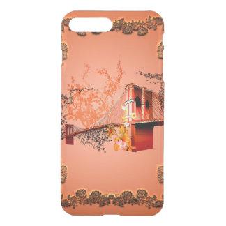 Fantastisches eiffeltower mit Rosen iPhone 8 Plus/7 Plus Hülle
