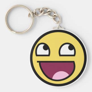 Fantastisches Gesicht Keychain Standard Runder Schlüsselanhänger