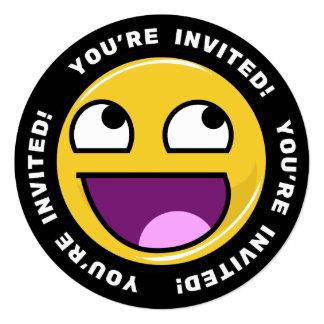 Fantastisches Gesicht Meme Quadratische 13,3 Cm Einladungskarte