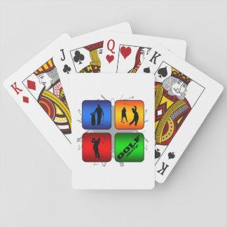 Fantastisches Golf-städtische Art Spielkarten
