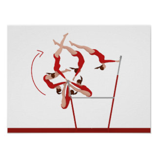 Fantastisches Gymnastik-Plakat - ungleiche Stangen Poster