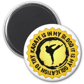 Fantastisches Karate-Siegel Runder Magnet 5,7 Cm