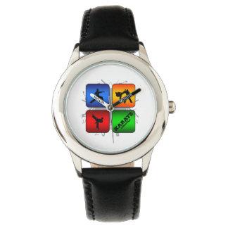 Fantastisches Karate-städtische Art Armbanduhr
