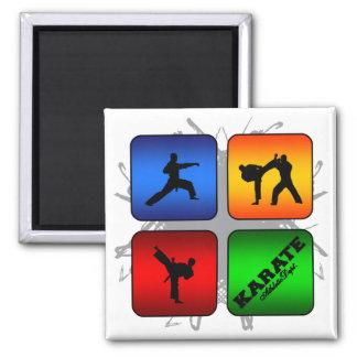 Fantastisches Karate-städtische Art Quadratischer Magnet