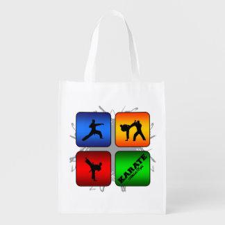 Fantastisches Karate-städtische Art Wiederverwendbare Einkaufstasche