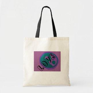 Fantastisches lila Symbol/personifizieren Tasche