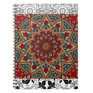 Fantastisches Mandala-Notizbuch Notizblock