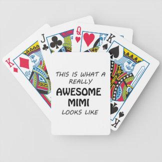 Fantastisches Mimi Bicycle Spielkarten
