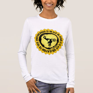 Fantastisches Motocross-Siegel Langarm T-Shirt