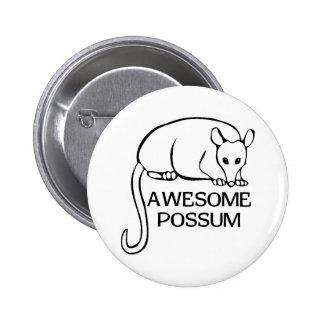 Fantastisches Opossum Runder Button 5,1 Cm
