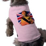 Fantastisches Pop-Kunst-Diamant-Jubiläum mit Gewer Ärmelfreies Hunde-Shirt