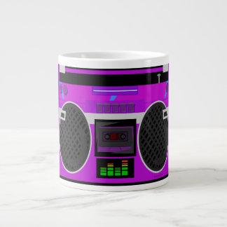 Fantastisches Retro lila Boombox Jumbo-Tasse