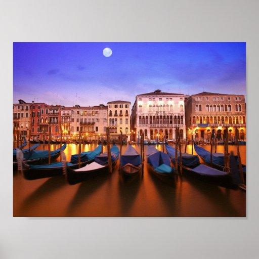 FANTASTISCHES romantisches Plakat Venedigs