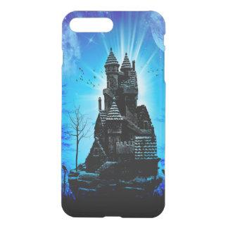 Fantastisches Schloss in der Nacht mit Mond und iPhone 8 Plus/7 Plus Hülle