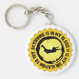 Fantastisches Skydiving Siegel Schlüsselanhänger