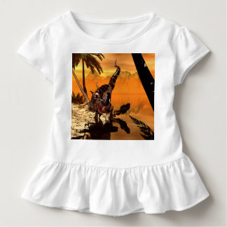 Fantastisches T-rex mit Rüstung Kleinkind T-shirt