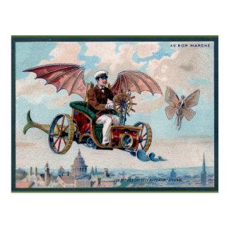 Fantastisches viktorianisches Steampunk Postkarte
