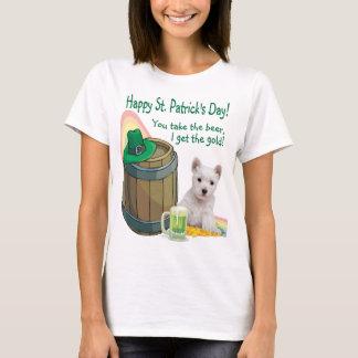 Fantastisches Westie Welpen-St Patrick T-Shirt