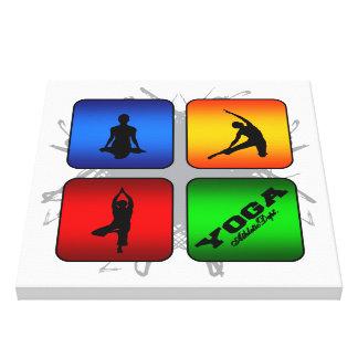 Fantastisches Yoga-städtische Art Leinwanddruck