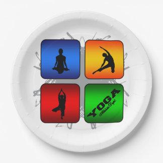 Fantastisches Yoga-städtische Art Pappteller