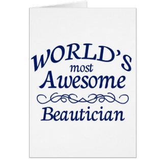 Fantastischste Beautician der Welt der Karte