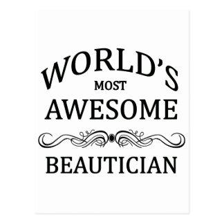 Fantastischste Beautician der Welt der Postkarte