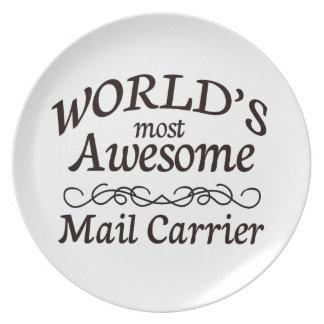 Fantastischste die Post-Fördermaschine der Welt Flache Teller