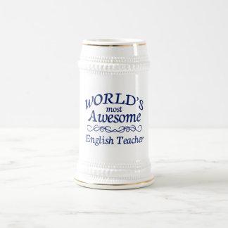 Fantastischste englische Lehrer der Welt der Bierglas
