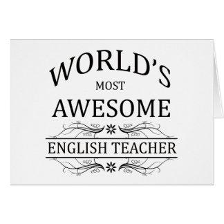 Fantastischste englische Lehrer der Welt der Grußkarte