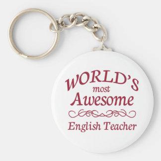 Fantastischste englische Lehrer der Welt der Standard Runder Schlüsselanhänger