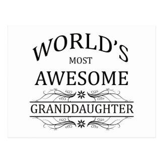 Fantastischste Enkelin der Welt die Postkarte