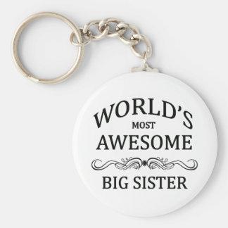 Fantastischste große Schwester der Welt die Standard Runder Schlüsselanhänger