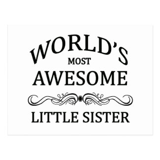 Fantastischste kleine Schwester der Welt die Postkarte