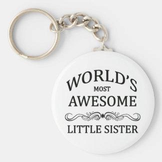 Fantastischste kleine Schwester der Welt die Standard Runder Schlüsselanhänger