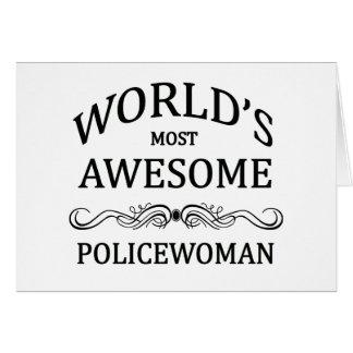 Fantastischste Polizeibeamtin der Welt die Karte