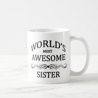 Fantastischste Schwester der Welt die Kaffeetasse