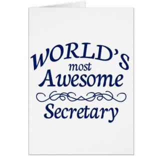Fantastischste Sekretär der Welt der Karte