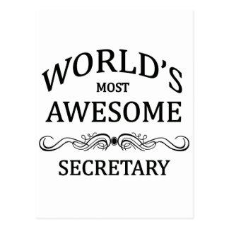 Fantastischste Sekretär der Welt der Postkarte