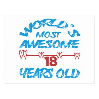 Fantastischsten 18 Jahre der Welt die alt Postkarten