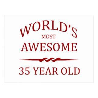 Fantastischsten 35 Jährigen der Welt die Postkarte