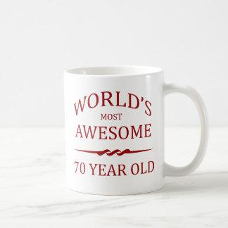 Fantastischsten 70 Jährigen der Welt die Kaffeetasse
